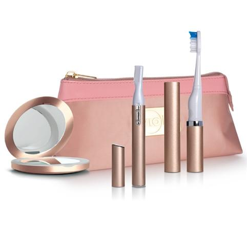 Slim Trimmer Gift Set including mirror, bag, trimmer and sonic toothbrush